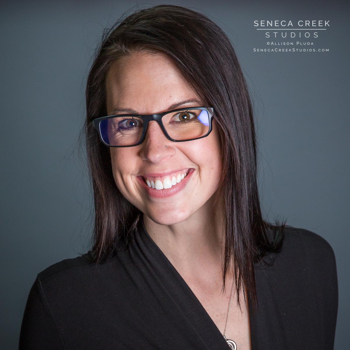 SenecaCreekStudios.com by Allison Pluda | Personal Branding Session and Headshot Portrait with Beth Young Jones in the Studio