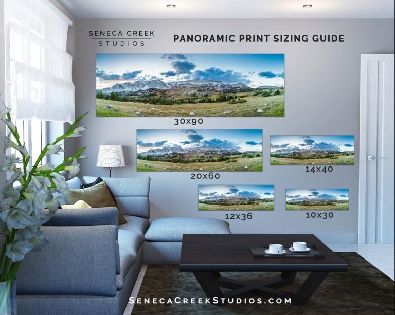 snowy range mountains wyoming panoramic archival metal prints