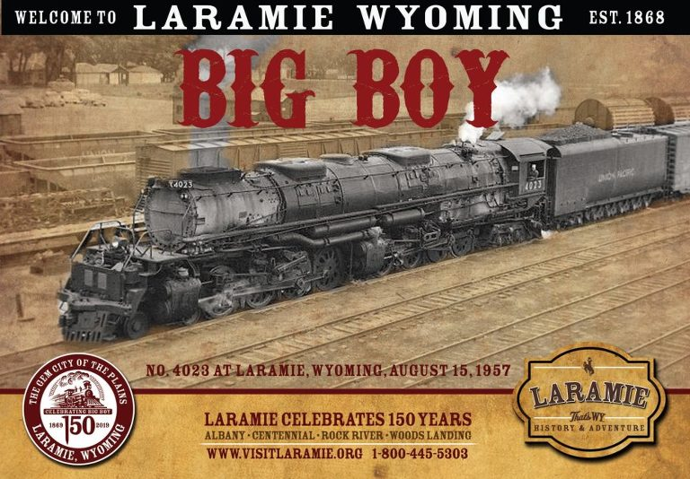 Big Boy and the Living Legend Steam Train Locomotive in